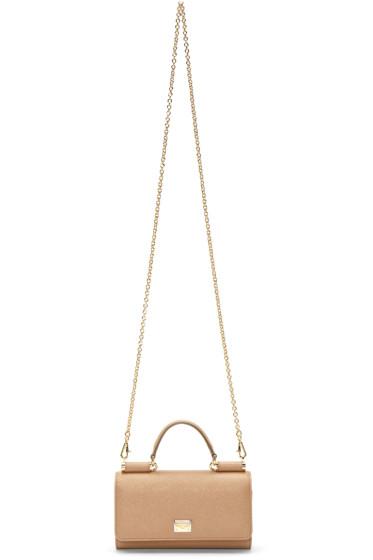 Dolce & Gabbana - Tan Small Von Shoulder Bag