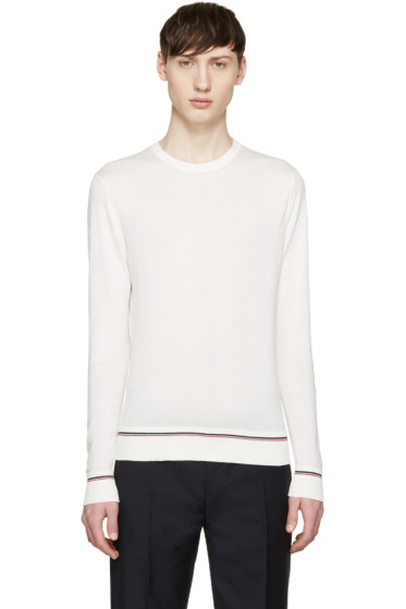 Moncler - Cream Cotton Sweater