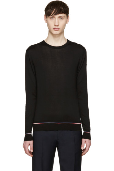 Moncler - Black Cotton Sweater