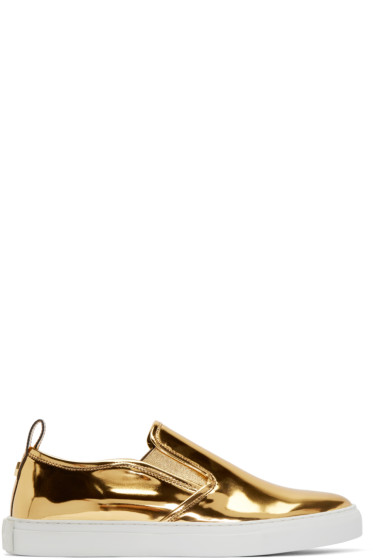 McQ Alexander Mcqueen - Gold Slip-On Sneakers