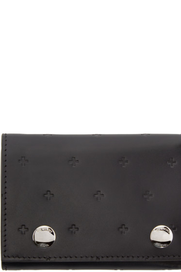Givenchy - Black Leather Cross Wallet