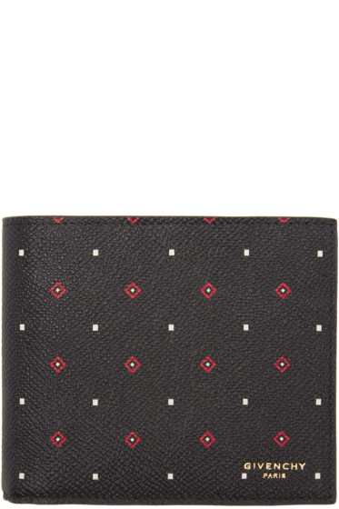 Givenchy - Black Leather Micro Jacquard Wallet