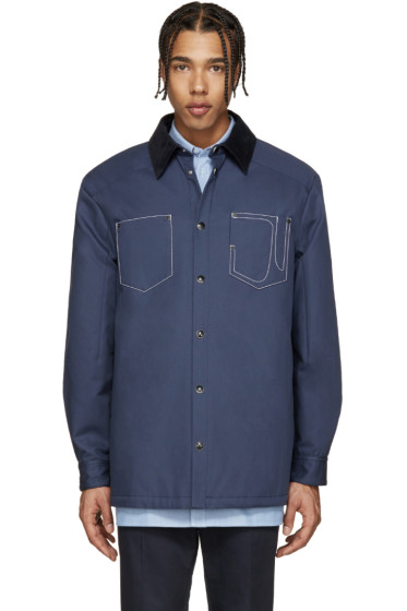 Givenchy - Blue Corduroy Collar Jacket