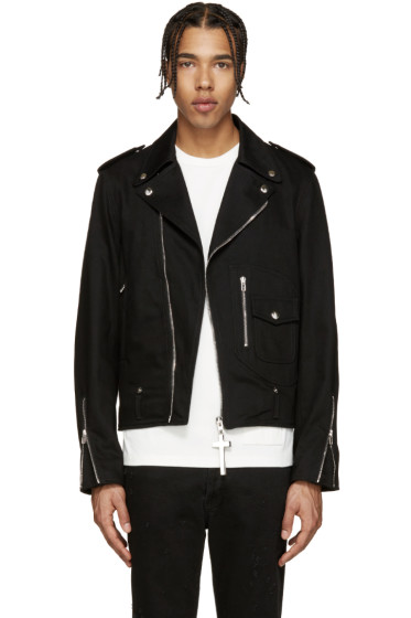 Givenchy - Black Denim Biker Jacket