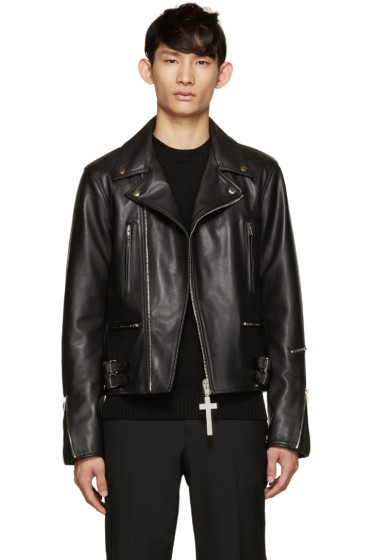 Givenchy - Black Leather Biker Jacket