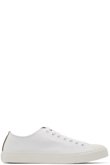 Paul Smith Jeans - White Canvas Indie Sneakers