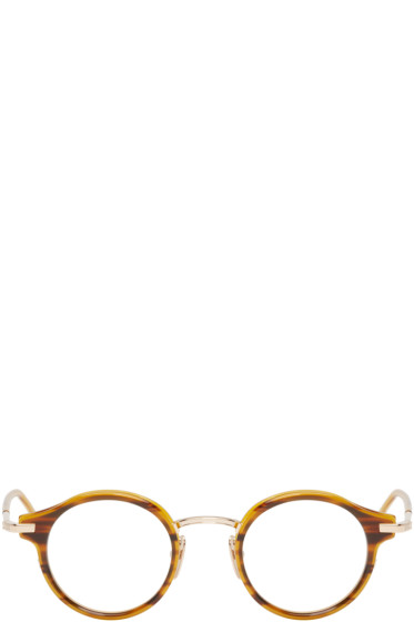 Thom Browne - Walnut & 12K Gold Optical Glasses
