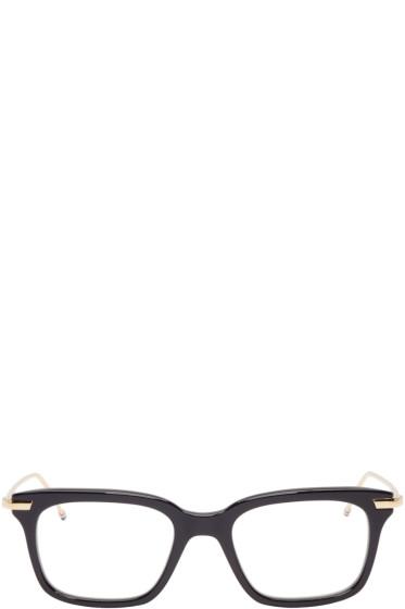 Thom Browne - Navy & 18K Gold Optical Glasses