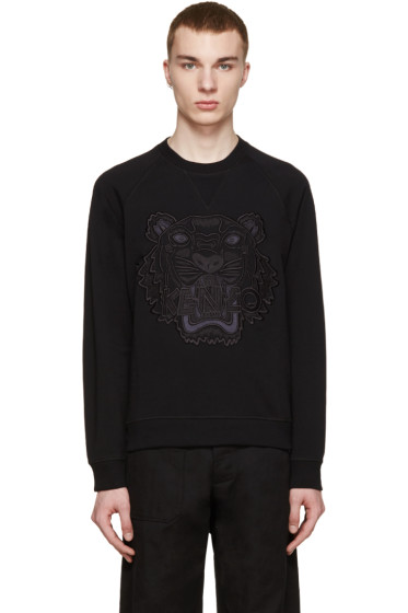 Kenzo - Black Embroidered Tiger Pullover