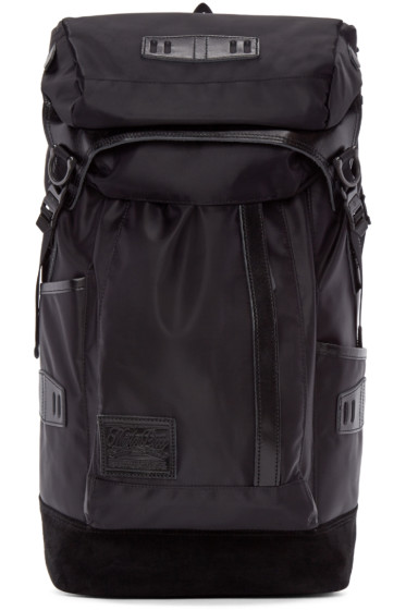 Master-Piece Co - Black Nylon & Suede Backpack