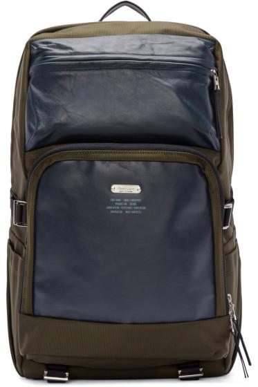 Master-Piece Co - Khaki Codura & Leather MKN-2 Backpack