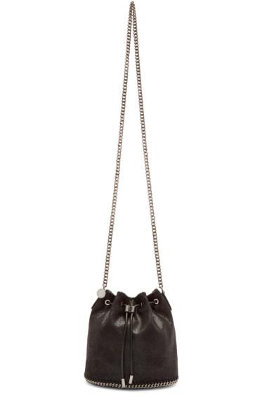 Stella McCartney - Black Falabella Shaggy Deer Bucket Bag