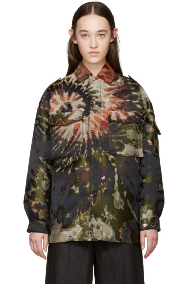 Valentino - Multicolor Tie Dye Brocade Jacket