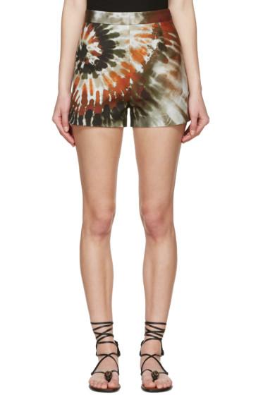 Valentino - Multicolor Tie Dye Shorts