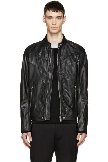 Diesel - Black Leather L-REED Jacket