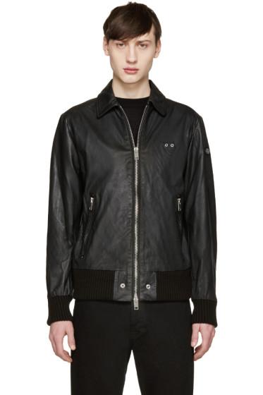 Diesel - Black Leather Joplin Jacket