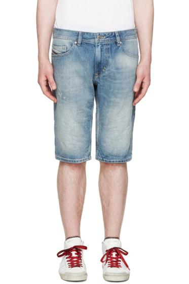 Diesel - Blue Denim Thrashort Shorts