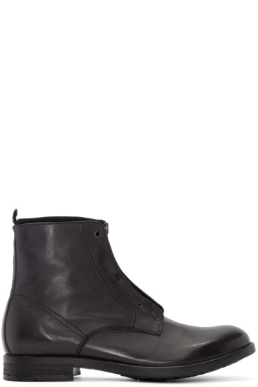 Diesel - Black Leather D-DOKEY NEO Boots