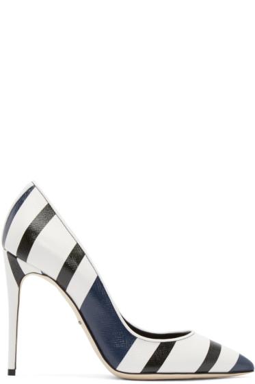 Dolce & Gabbana - Tricolor Striped Heels