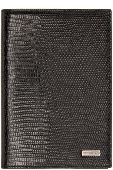 Dolce & Gabbana - Black Lizard Passport Holder