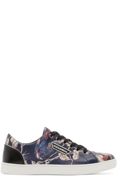 Dolce & Gabbana - Navy Bird Print Sneakers