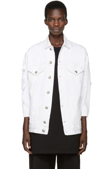 R13 - White Denim Oversized Trucker Jacket