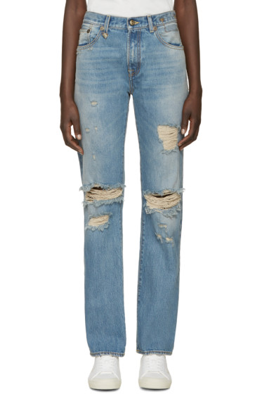 R13 - Blue Distressed Classic Jeans