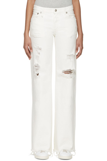 R13 - Ivory Flared Jane Jeans