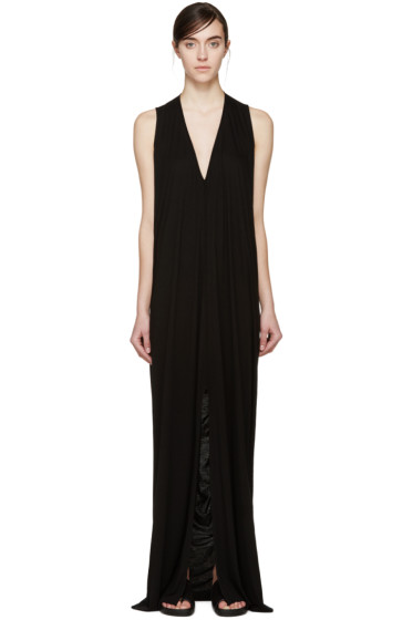 Rick Owens Lilies - Black Jersey Sleeveless Dress