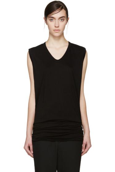 Rick Owens Lilies - Black Jersey Sleeveless T-Shirt