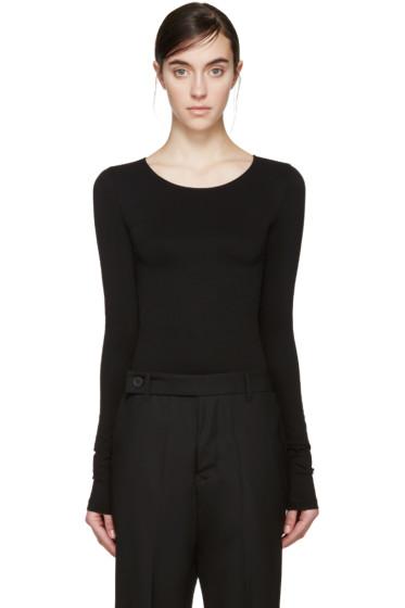 Rick Owens Lilies - Black Long Sleeve Bodysuit