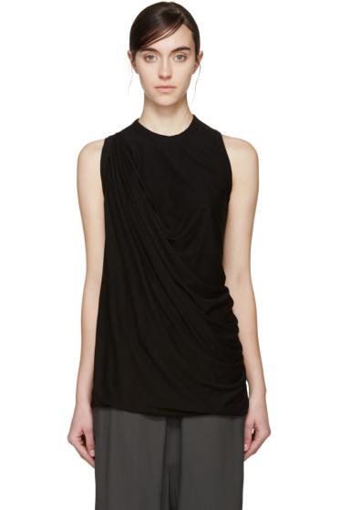 Rick Owens Lilies - Black Draped Jersey T-Shirt