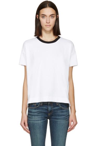 Rag & Bone - White & Black Charlee Ringer T-Shirt