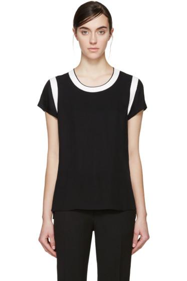 Rag & Bone - Black Satin Magda T-Shirt