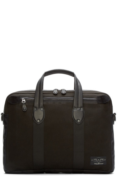 Rag & Bone - Black Canvas Derby Briefcase