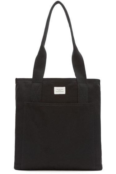 Rag & Bone - Black Canvas Standard Tote Bag