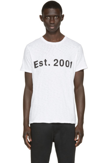 Rag & Bone - White Est. 2001 T-Shirt