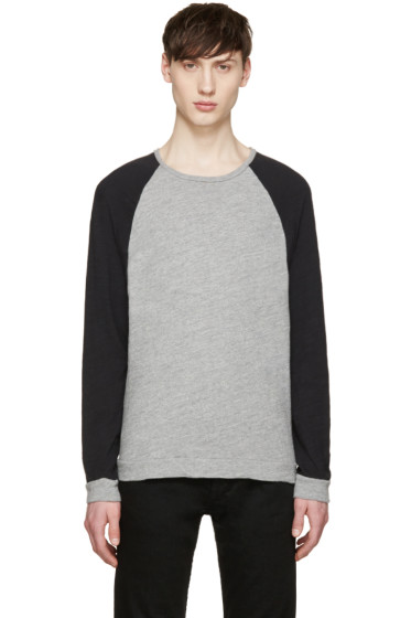 Rag & Bone - Grey & Black Raglan T-Shirt