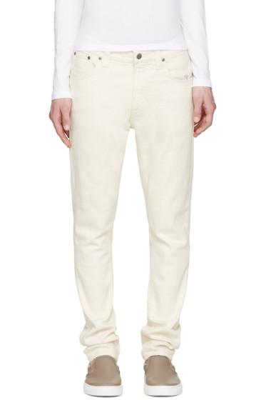 Nudie Jeans - Ecru Lean Dean Jeans