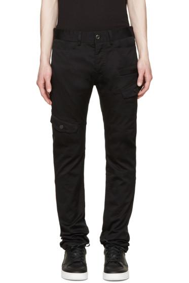 Diesel Black Gold - Black Cotton Cargo Pants