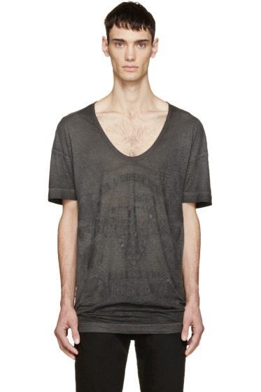 Diesel Black Gold - Black Distressed Graphic T-Shirt