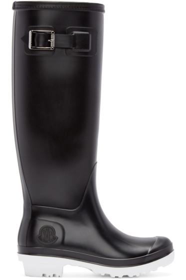 Moncler - Black Hermine Rubber Boots