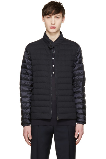 Moncler - Navy Quilted Down Jacket