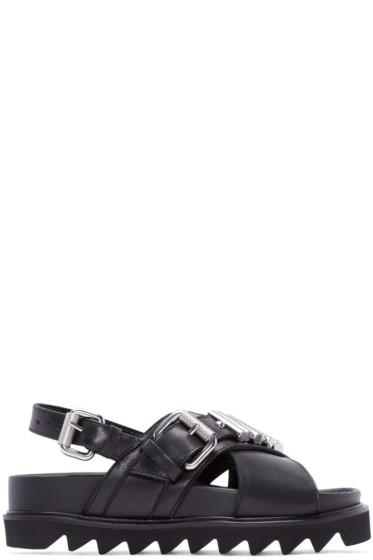 McQ Alexander Mcqueen - Black Bullet Trim Sandals