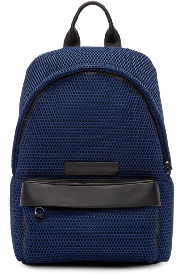 McQ Alexander Mcqueen - Navy Mesh Backpack