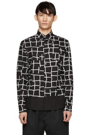 McQ Alexander Mcqueen - Black & White Printed Shirt