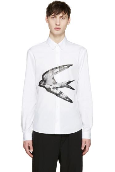 McQ Alexander Mcqueen - White Swallow Graphic Shirt