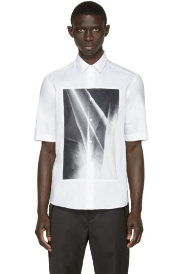 McQ Alexander Mcqueen - White Graphic Square Shirt