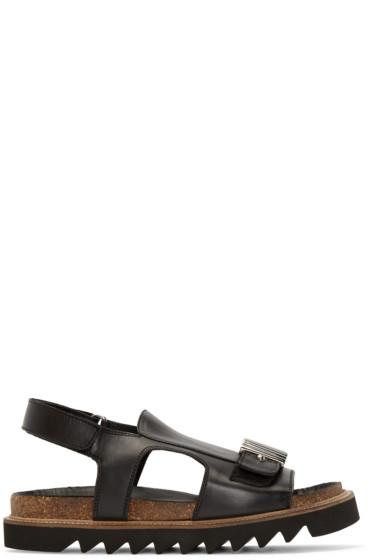 McQ Alexander Mcqueen - Black Accent Hardware Sandals