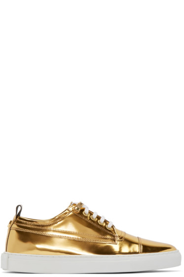 McQ Alexander Mcqueen - Gold Leather Sneakers